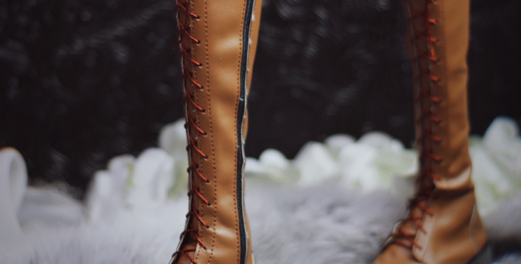 Lace-up Leather Boots by MOCHA