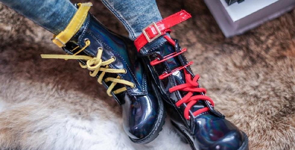 Little Shinny Black Boots by QC Studio