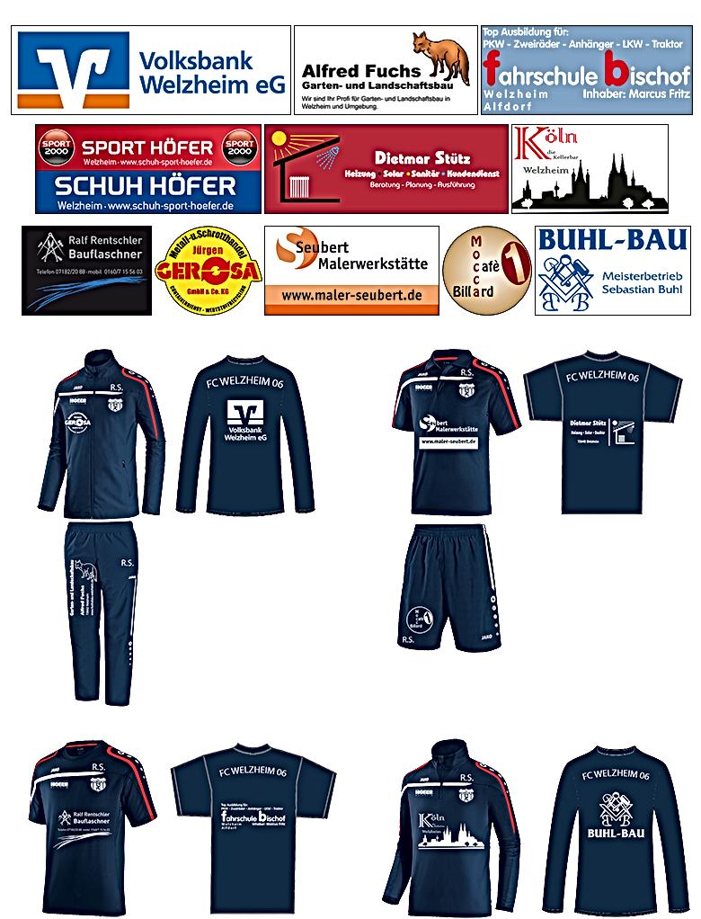 Sponsoren Trainingsanzug