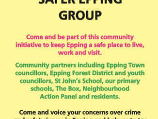 Safer Epping Group: Next meeting: Monday 13th January 2020 Epping St John's School, 5.30pm
