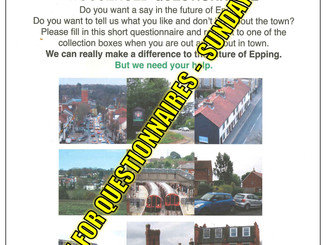 Epping Together Your Town: Your Say Household Questionnaires Deadline 3rd April 2016