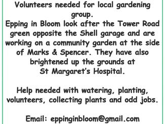 Volunteers needed for Epping in Bloom
