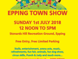 Epping Town Show: Sunday 1st July 2018