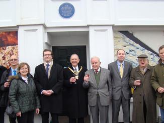 Sir Winston Churchill's blue plaque