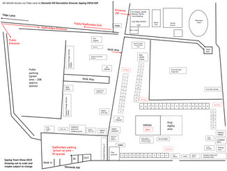 Epping Town Show Sunday 7th July 2019 Site Map
