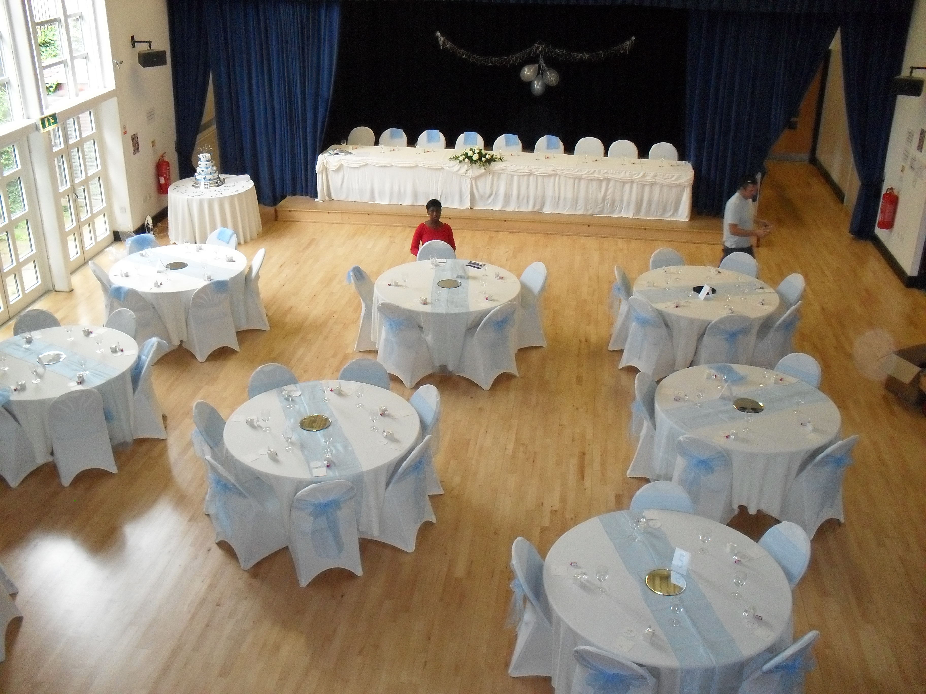 Hall laid out for Wedding