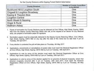 Notice of Essex County Council elections