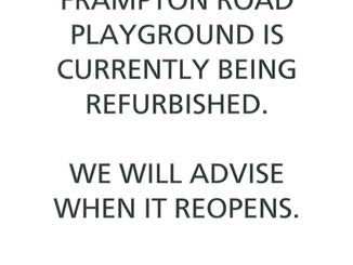 Frampton Road Playground Refurbishment - closed at the moment