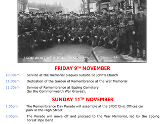 Remembrance Services 2018 Epping