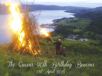 Queen's 90th birthday beacons - Thursday 21st April 2016 From 7pm