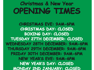 Bakers Lane Toilets Christmas 2016 and New Year Opening Times