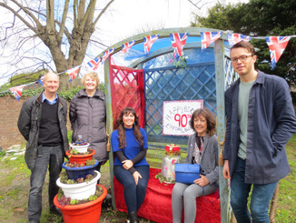 Epping in Bloom wish the Queen a Happy 90th Birthday at the Market Garden Terrace by M&S