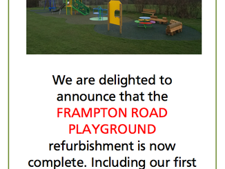 Frampton Road Playground Refurbishment - is now OPEN 5th April 2017