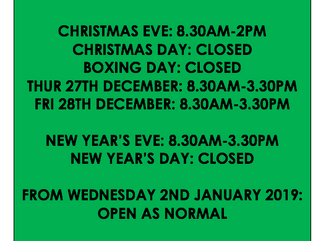 Bakers Lane toilets opening times 2018