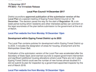 Epping Forest District Council Draft Local Plan December 2017: Places to view