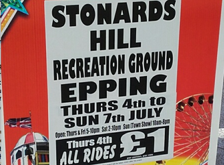 Funfair at Stonards Hill recreation ground Thursday 4th to Sunday 7th July