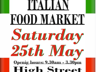 Italian Market, Epping High Street, 25th May 2019, 9.30am-3.30pm