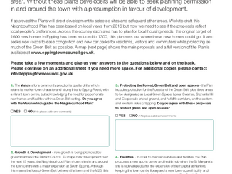 Epping Neighbourhood Plan consultation