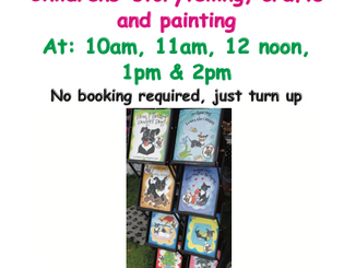 Epping Monday Market: Monday 5th August: Childrens storytelling, crafts and painting