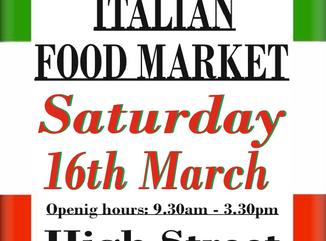 Italian Market, Epping High Street, 16th March 2019, 9.30am-3.30pm