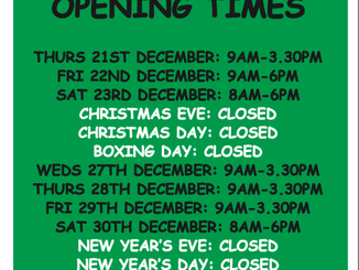 Bakers Lane Toilets Christmas and New Year opening times 2017-18