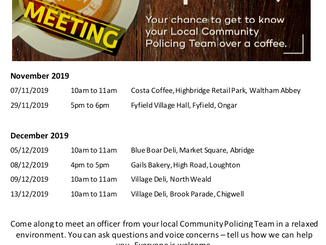 Coffee with Cops: Epping Forest