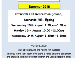 Play in the Park 2016 Stonards Hill Recreation Ground