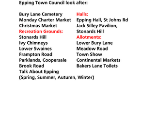 Epping Hall Christmas opening times 2018