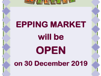 Epping Monday Market open Monday 30th December 2019