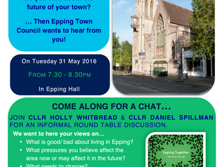 Epping Together Youth Engagement Session Tuesday 31st May 7.30pm Epping Hall