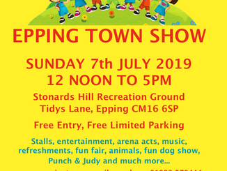 Epping Town Show, Sunday 7th July 2019, 12 noon-5pm