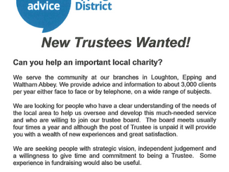 Citizens Advice Bureau New Trustees Wanted