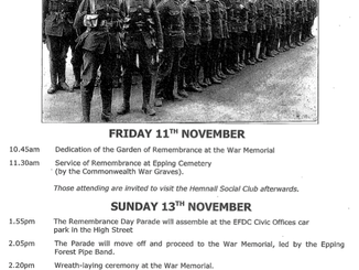 Remembrance Services 2016 Epping