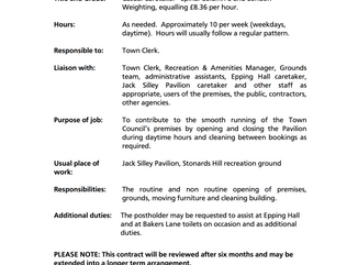 Epping Town Council Job Vacancy Casual Caretaker