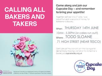 Alzheimer's Cake Day Todd Sloane, Epping Thursday 14th June 2018