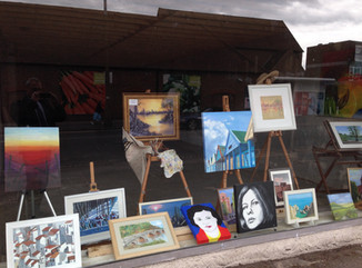 Epping art brightens up empty shop