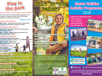 Easter Holiday Activity Programme 2016 from Epping Forest District Council