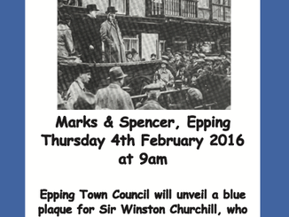 Blue Plaque Unveiling - Sir Winston Churchill Thursday 4th Feb 2016 at 9am