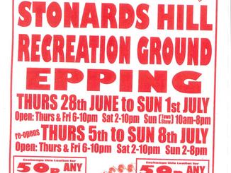 Stonards Hill recreation ground Fun Fair June & July 2018