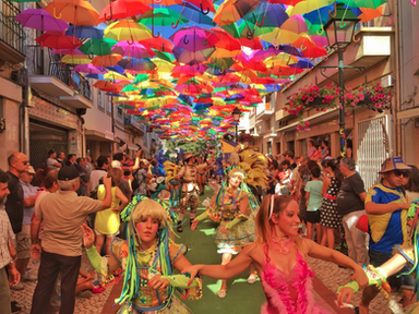 Agueda umbrella street