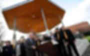 inauguration musicale du kiosque à musique en présence de Mr Guérin, maire de Cugnaux, Mr Guijarro, constructeur et du conseil d'administration de l'association. Au son de l' Ensemble de l'école de musique + Trima Jazz Manouche + Thomas Schirmann Trio.