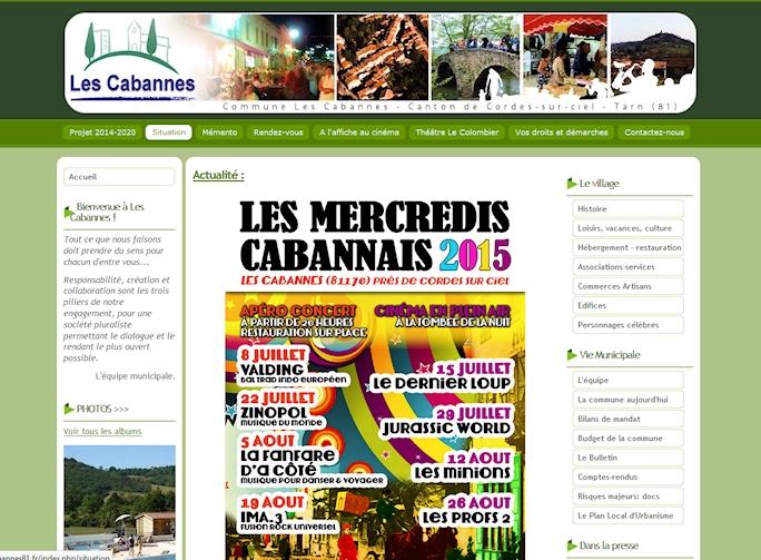 Commune LES CABANNES