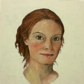 Autoportrait (2019, huile sur papier, 21