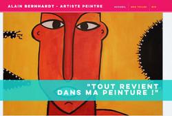 Peintre Alain Bernhardt