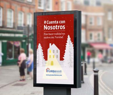 Mupi publicitario para URBAMAR
