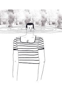 marinero ilustración editorial
