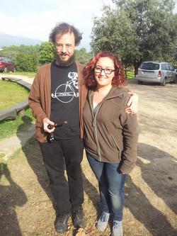 Con Germán Díaz
