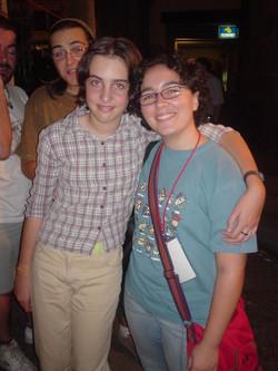 Con Alba Gutiérrez