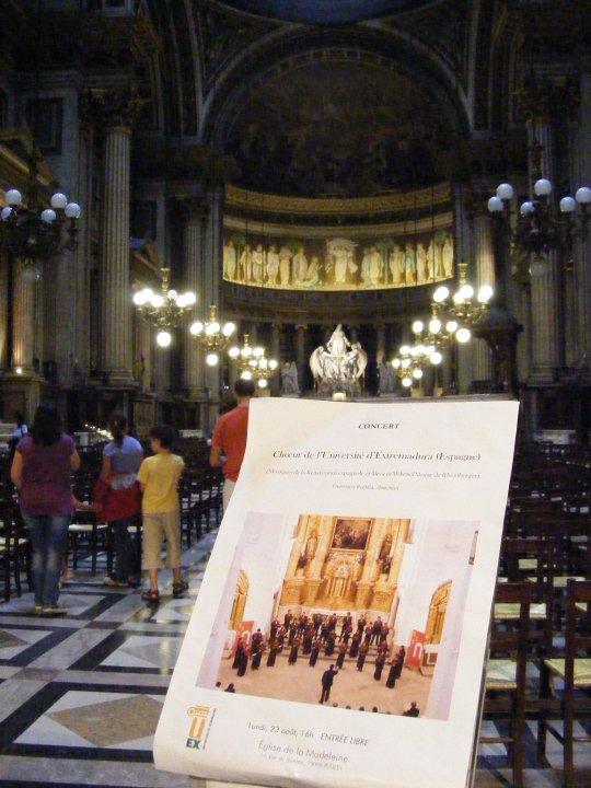 Concierto en La Madeleine (París)