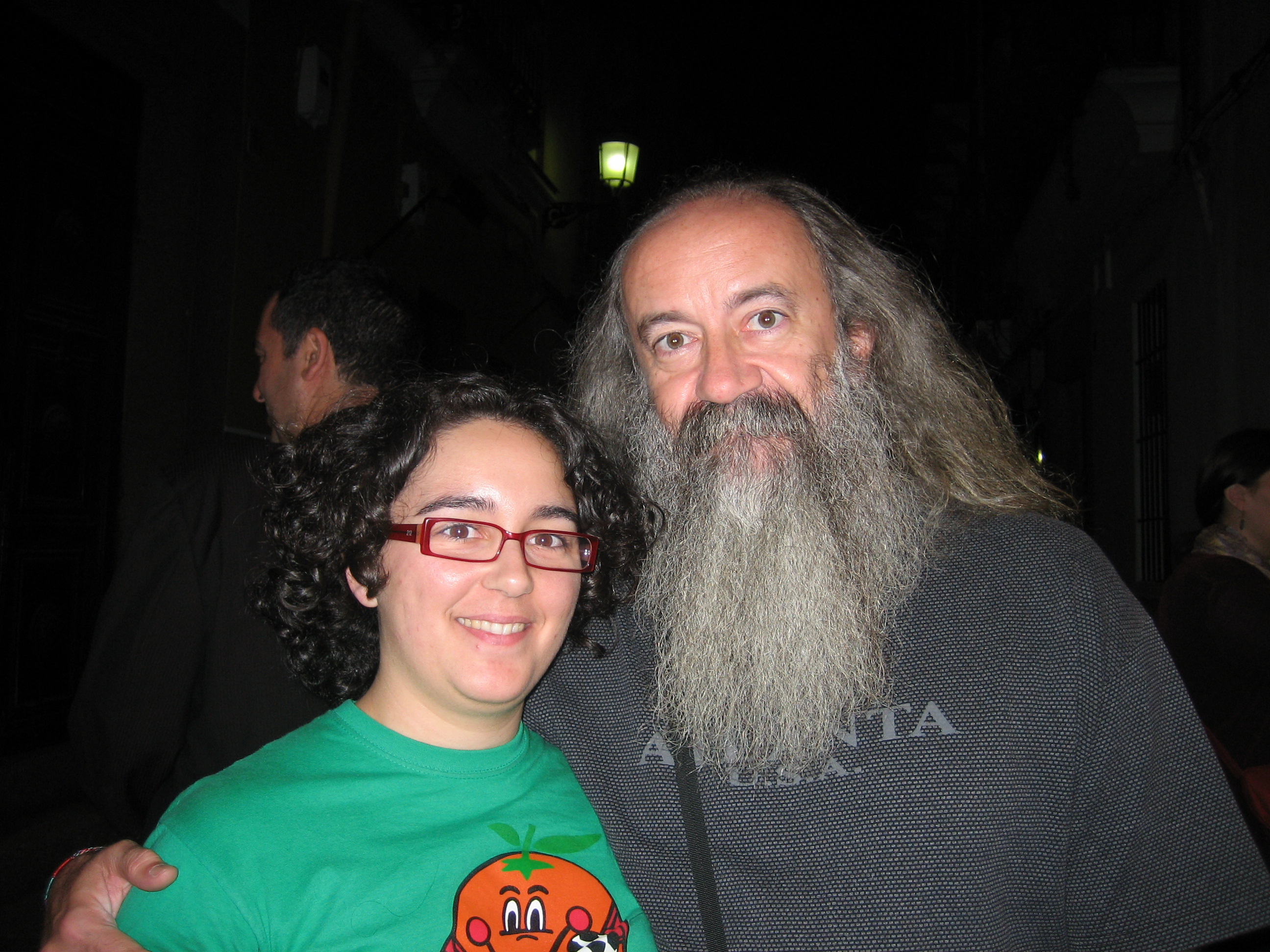 Con Pedro Estevan